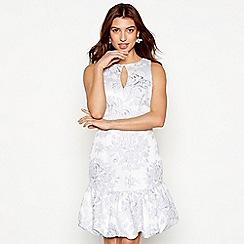 Debut - Lilac floral jacquard 'Florence' sleeveless mini dress