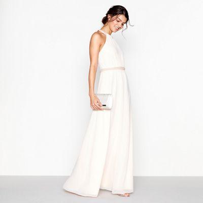 3028666b912 No. 1 Jenny Packham Pale pink chiffon  Lucinda  embellished dress ...