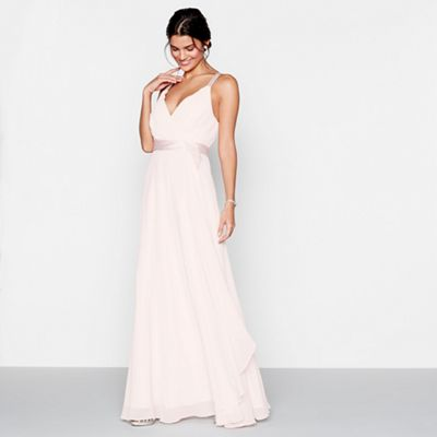 Jenny packham bridal dresses wedding dresses shoes debenhams 1 jenny packham pink chiffon v neck sleeveless dress junglespirit Image collections