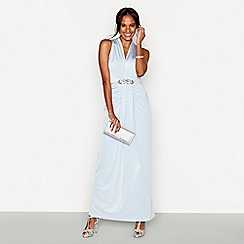 No. 1 Jenny Packham - Pale blue jersey 'Jennifer' embellished maxi dress