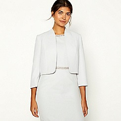 No. 1 Jenny Packham - Silver 'Juliette' cropped jacket