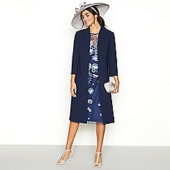 No. 1 Jenny Packham - Navy 'Julia' long jacket