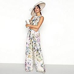 No. 1 Jenny Packham - Rose 'Pippa' floral print jumpsuit