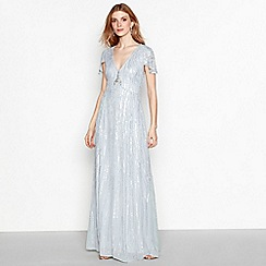 No. 1 Jenny Packham - Pale blue sequin 'Rita' maxi dress