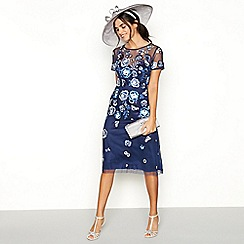 No. 1 Jenny Packham - Navy embroidered 'Andrea' tea dress