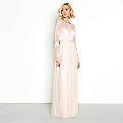 Vila - Pink embroidered 'Vigeorgious' maxi dress