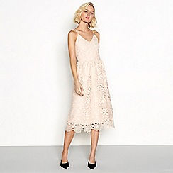 Vila - Pink lace 'Vidalton' midi dress