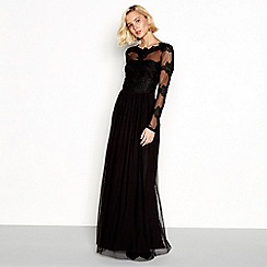 Vila - Black lace 'Viulvica' maxi dress