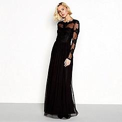 Vila - Black lace 'Viulvica' maxi dress