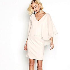 Vila - Pink cape 'Visays' dress
