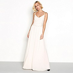 Vila - Pink lace 'Viulvica' maxi dress