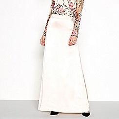 Vila - Pink satin maxi skirt