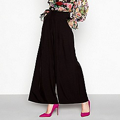 YAS - Black wide leg smart trousers