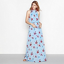 YAS - Blue floral print 'Popsy' sleeveless maxi dress