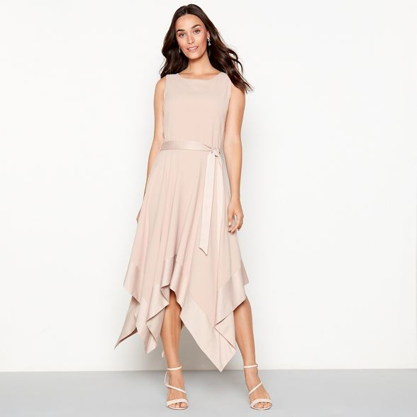 hem 'Hayley' Debut dress hanky Rose yqOMKp7