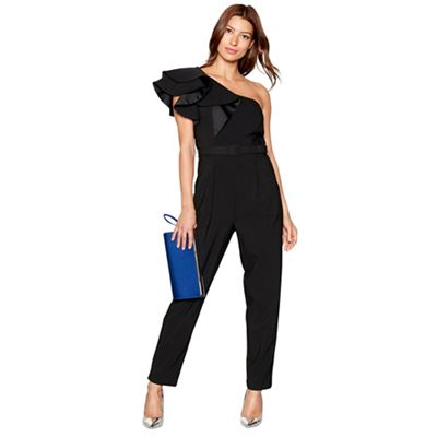 7c3e4998111 Debut Black frill sleeve  Frankie  jumpsuit