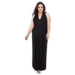 Debut - Black 'Jessica' floral lace plus size maxi dress