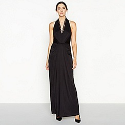 Debut - Black 'Jessica' floral lace maxi dress