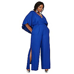 Debut - Bright blue 'Jess' plus size jumpsuit