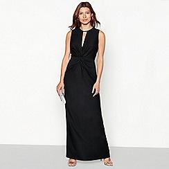 Debut - Black 'Teiko' twist detail sleeveless maxi dress
