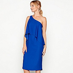 Debut - Blue one shoulder 'Cali' knee length dress