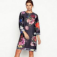 Debut - Multi-coloured floral print 'Tonya' knee length dress