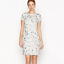 No. 1 Jenny Packham - Silver Phoebe embellished mini dress