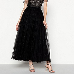 No. 1 Jenny Packham - Black sparkle tulle full length skirt