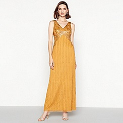 No. 1 Jenny Packham - Dark gold sequinned 'Alice' maxi dress