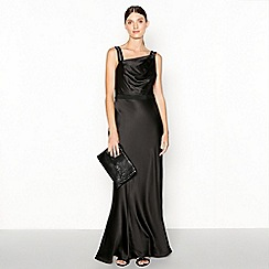 No. 1 Jenny Packham - Black embellished 'Alana' satin evening gown