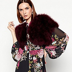 MW by Matthew Williamson - Purple feather cape