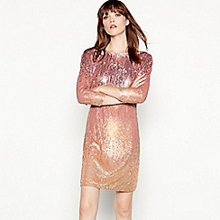 MW by Matthew Williamson - Pink 'Ursula' ombre sequined mini dress