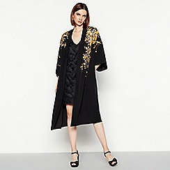 MW by Matthew Williamson - Black embroidered kimono