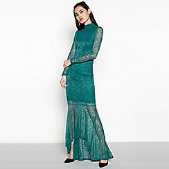 Vila - Green Fishtail Lace 'Virigmor' Maxi Dress
