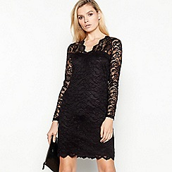 Vila - Black 'Cely' lace dress