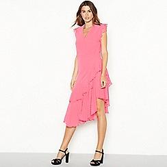 YAS - Pink chiffon 'Yasflamina' midi dress