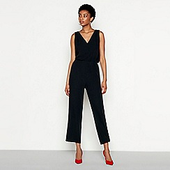 YAS - Black chiffon V-neck jumpsuit