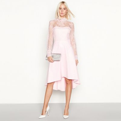 YAS Rose pink lace  Yaspretty  occasion dress   Debenhams d8027515c6