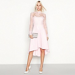 YAS - Rose pink lace 'Yaspretty' occasion dress