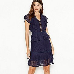 YAS - Navy floral lace 'Yasmaida' short dress