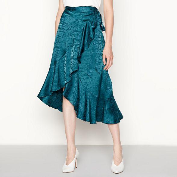 floral YAS Green 'Yassarafina' low pattern skirt high qq60wzE