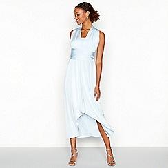 Debut - Blue multiway high low dress