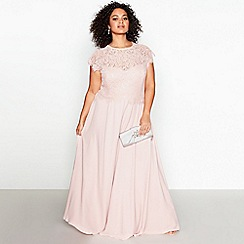 Debut - Rose 'Olivia' Floral Plus Size Lace Maxi Dress