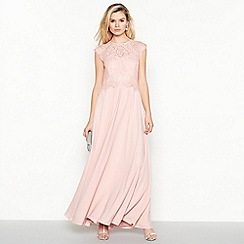 Debut - Rose 'Olivia' Floral Lace Maxi Dress
