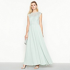 Debut - Pale Green 'Olivia' Floral Lace Maxi Dress
