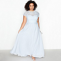 Debut - Blue Lace 'Olivia' Plus Size Maxi Dress