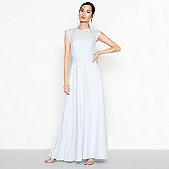 Debut - Blue Lace 'Olivia' Maxi Dress
