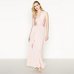 Debut - Rose Pink Lace Back 'Liza' Maxi Dress