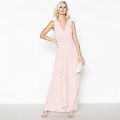 Debut - Rose Pink Chiffon 'Petra' Twist Front Maxi Dress