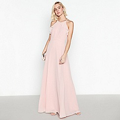 Debut - Rose Pink Ruffle Maxi Dress